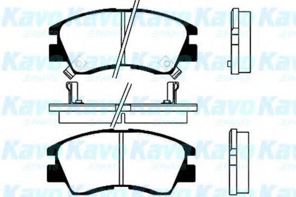 KAVO PARTS BP5506 Комплект тормозных колодок, дисковый тормоз