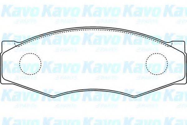 KAVO PARTS BP6505 Комплект тормозных колодок, дисковый тормоз