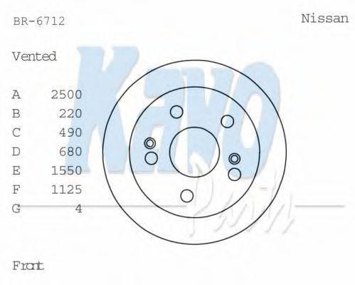 KAVO PARTS BR6712 Тормозной диск
