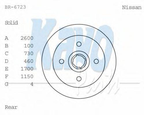 KAVO PARTS BR6723 Тормозной диск