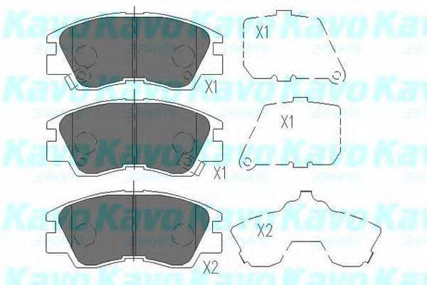 KAVO PARTS KBP5501 Комплект тормозных колодок, дисковый тормоз