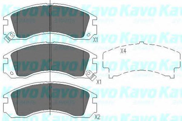KAVO PARTS KBP5503 Комплект тормозных колодок, дисковый тормоз