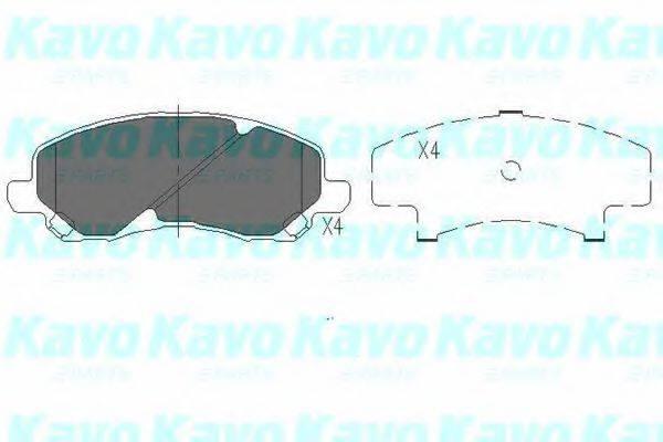 KAVO PARTS KBP5516 Комплект тормозных колодок, дисковый тормоз