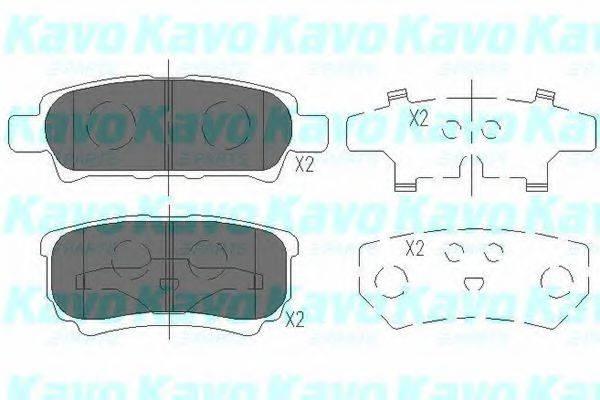 KAVO PARTS KBP5518 Комплект тормозных колодок, дисковый тормоз