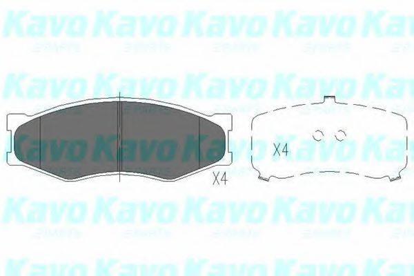 KAVO PARTS KBP6523 Комплект тормозных колодок, дисковый тормоз