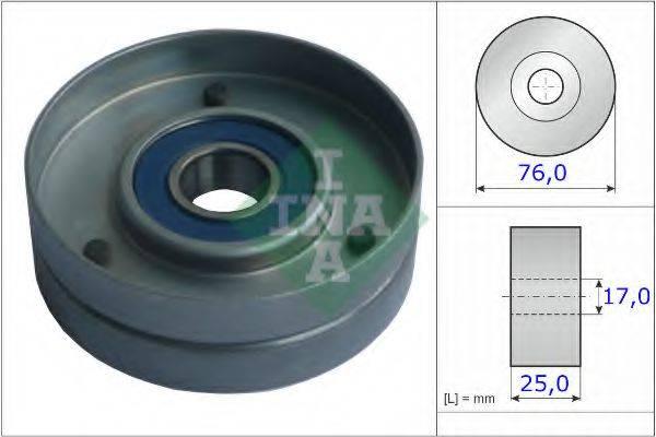 INA 531075130 Натяжной ролик, поликлиновой  ремень
