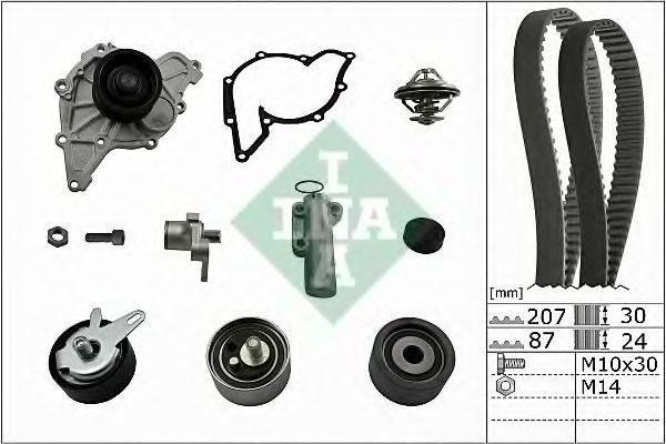 INA 530053930 Водяной насос + комплект зубчатого ремня