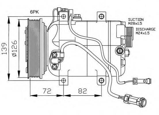 NRF 32027G Компрессор, кондиционер