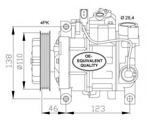 NRF 32105 Компрессор, кондиционер