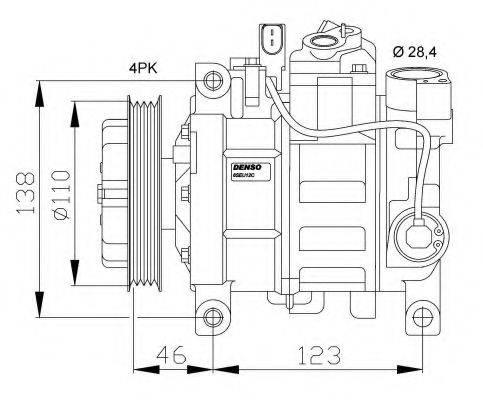 NRF 32105G Компрессор, кондиционер