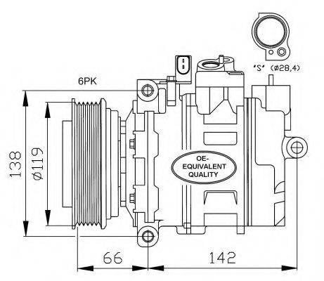 NRF 32111 Компрессор, кондиционер