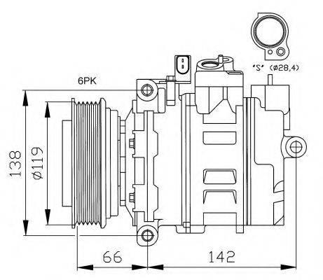 NRF 32111G Компрессор, кондиционер
