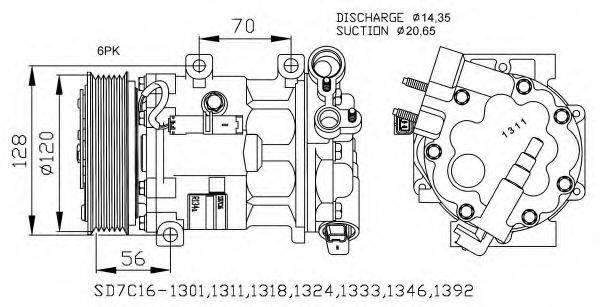 NRF 32682G Компрессор, кондиционер