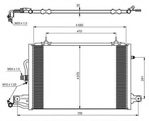 NRF 35031 Конденсатор, кондиционер