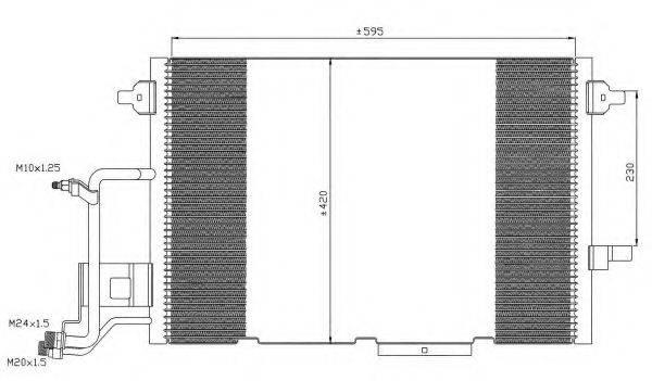 NRF 35317 Конденсатор, кондиционер