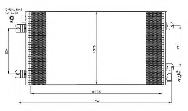 NRF 35485 Конденсатор, кондиционер