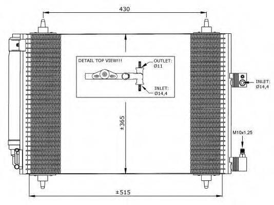 NRF 35649 Конденсатор, кондиционер