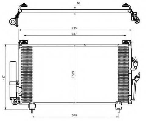 NRF 35755 Конденсатор, кондиционер