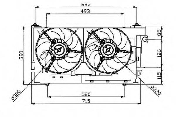 NRF 47050 Вентилятор, охлаждение двигателя