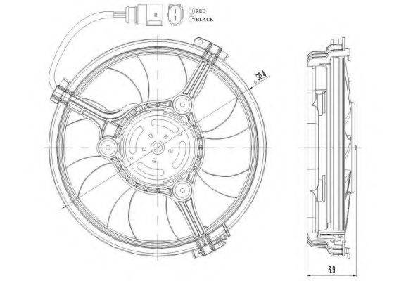 NRF 47208 Вентилятор, охлаждение двигателя