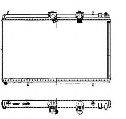 NRF 50442 Радиатор, охлаждение двигателя