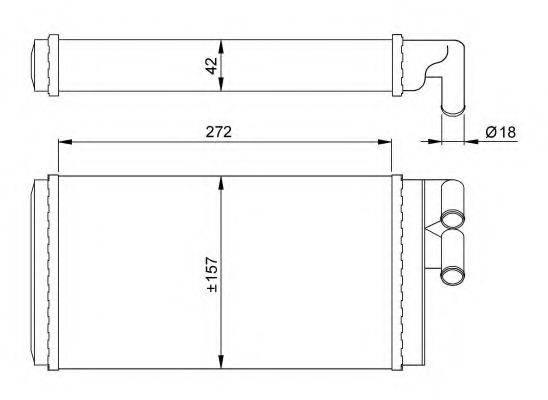 NRF 50602 Теплообменник, отопление салона