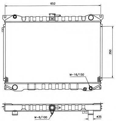 NRF 506840 Радиатор, охлаждение двигателя
