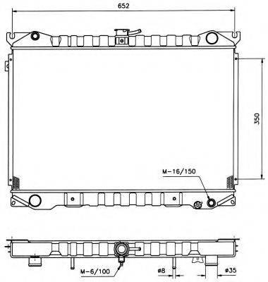 NRF 516840 Радиатор, охлаждение двигателя