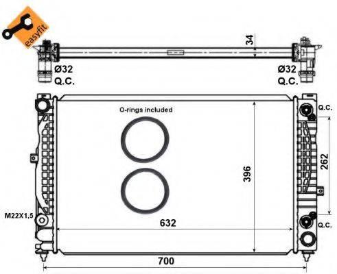 NRF 519504 Радиатор, охлаждение двигателя