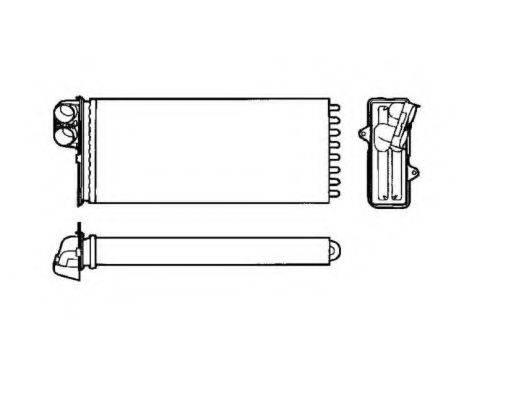 NRF 53551 Теплообменник, отопление салона