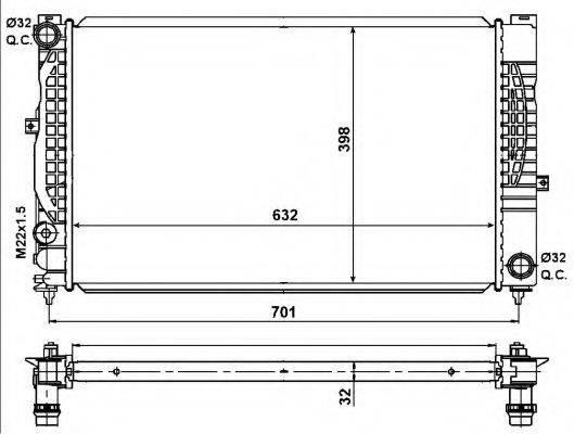 NRF 539504 Радиатор, охлаждение двигателя