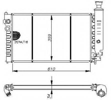NRF 54635 Радиатор, охлаждение двигателя