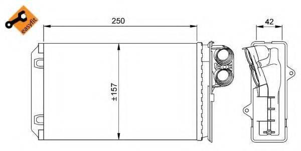NRF 58629 Теплообменник, отопление салона