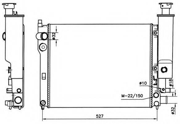 NRF 58776 Радиатор, охлаждение двигателя
