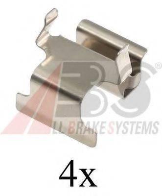A.B.S. 1673Q Комплектующие, колодки дискового тормоза