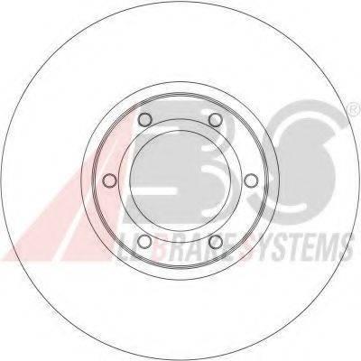 A.B.S. 17036 Тормозной диск