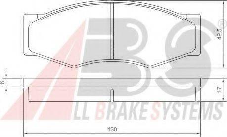 A.B.S. 36168OE Комплект тормозных колодок, дисковый тормоз