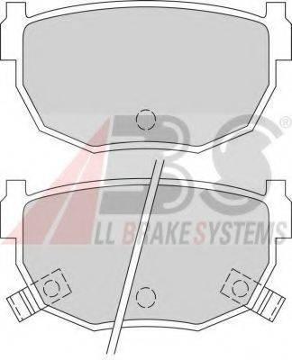 A.B.S. 365861 Комплект тормозных колодок, дисковый тормоз