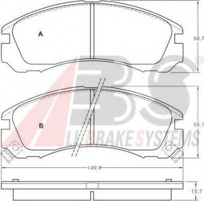 A.B.S. 36753 Комплект тормозных колодок, дисковый тормоз