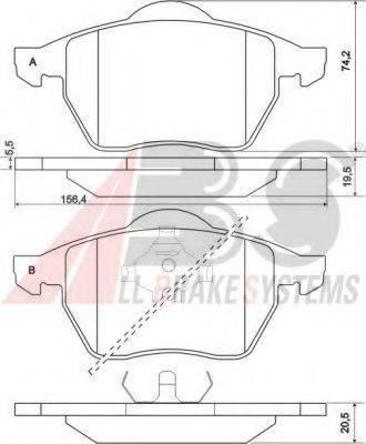 A.B.S. 36898 Комплект тормозных колодок, дисковый тормоз