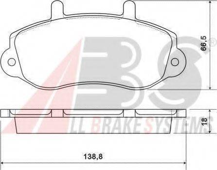 A.B.S. 37111 Комплект тормозных колодок, дисковый тормоз