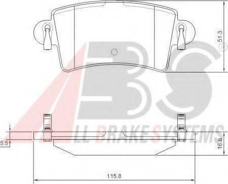 A.B.S. 37289 Комплект тормозных колодок, дисковый тормоз