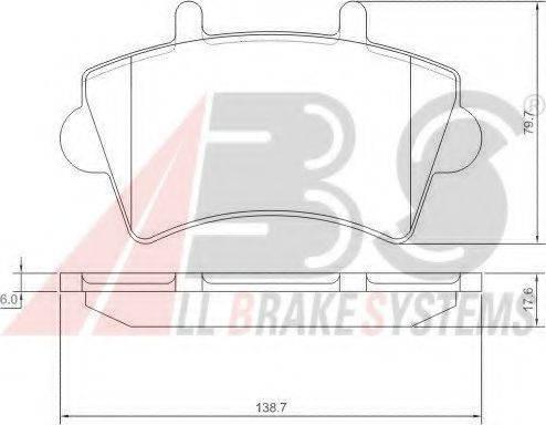 A.B.S. 37290 Комплект тормозных колодок, дисковый тормоз