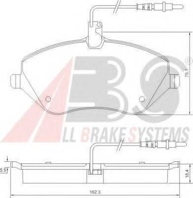 A.B.S. 37431 Комплект тормозных колодок, дисковый тормоз