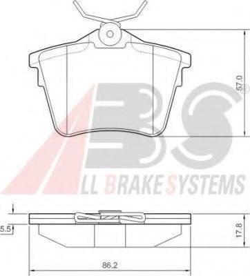 A.B.S. 37466 Комплект тормозных колодок, дисковый тормоз