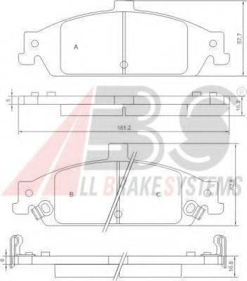 A.B.S. 38727 Комплект тормозных колодок, дисковый тормоз
