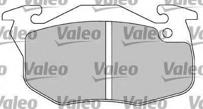 VALEO 597023 Комплект тормозных колодок, дисковый тормоз