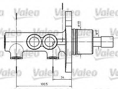 VALEO 402302 Главный тормозной цилиндр
