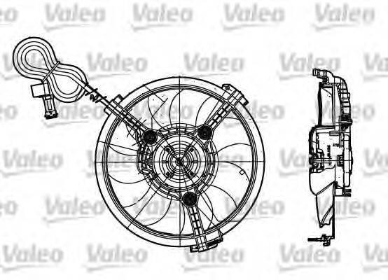 VALEO 698182 Вентилятор, охлаждение двигателя
