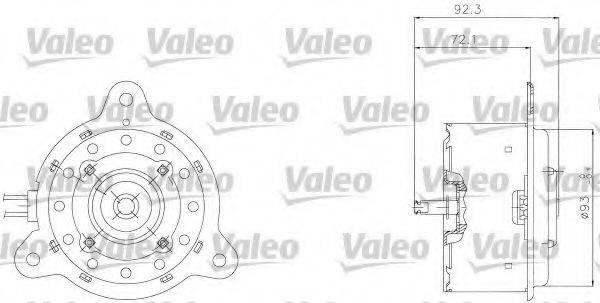 VALEO 698301 Электродвигатель, вентилятор радиатора